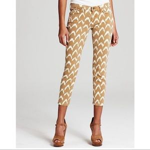 7 For All Mankind Ikat Cropped Skinny Jeans